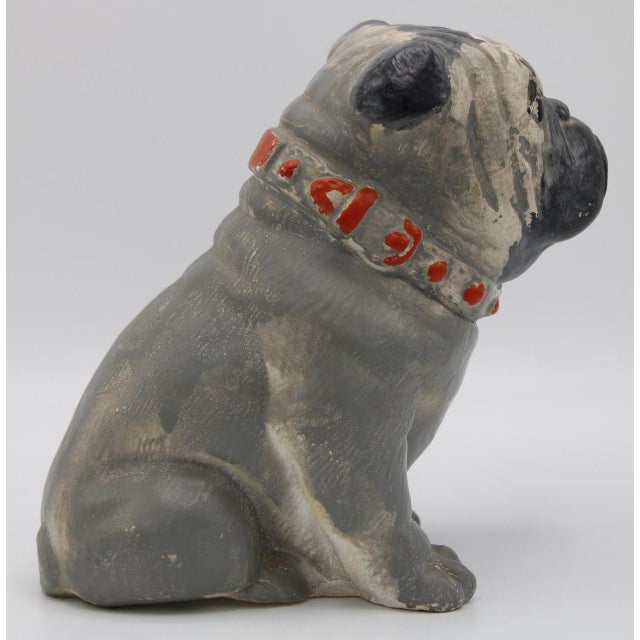 1930s 1930s Chalkware Carnival Prize Bulldog Statue For Sale - Image 5 of 12
