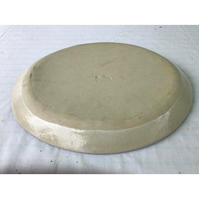 Vintage R. Brinker Handmade Stoneware Serving Platter - Image 5 of 5
