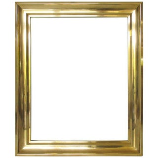 1940s French Modernist Solid Brass Frame for Painting or Drawing For Sale