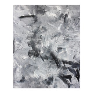 """""""Tango"""" by Trixie Pitts Large Monochromatic Abstract Expressionist Painting For Sale"""