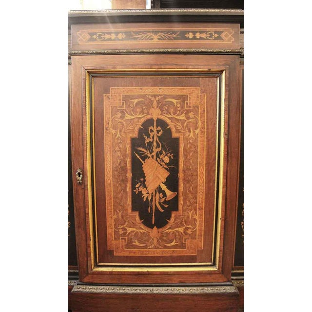 19th Century Renaissance Rosewood Bronze Mounted Credenza For Sale - Image 4 of 10