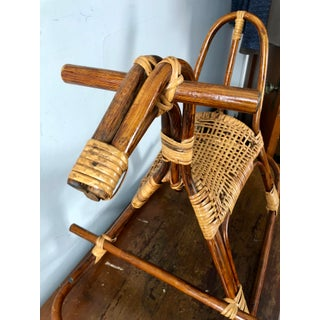 Mid Century Swedish Rattan Wicker Rocking Horse Preview