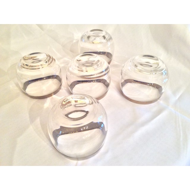 Metal Mid-Century Dorothy Thorpe Inspired Roly Poly Whiskey Glasses - Set of 5 For Sale - Image 7 of 13