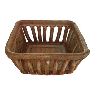 Cohen Pottery Organic Modern Basket For Sale