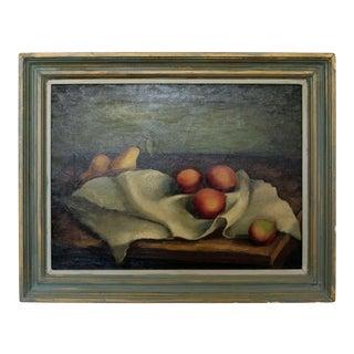 Mid Century Modern Emil Weddige Framed Signed Still Life Oil Painting For Sale