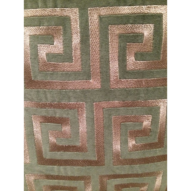 Greek Key Pillows - A Pair - Image 5 of 5