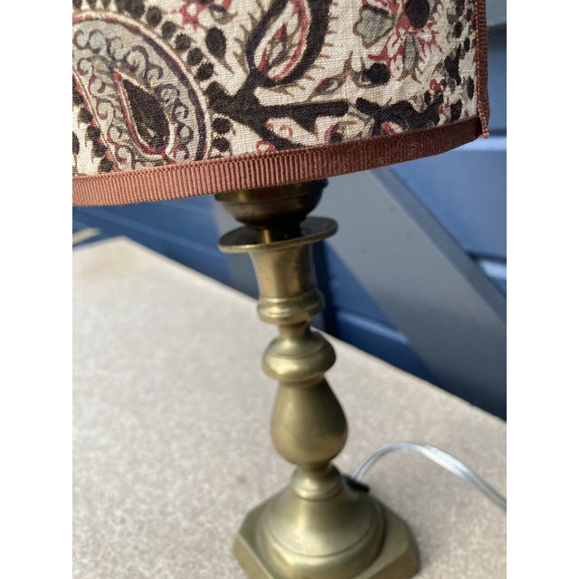 Petite Brass Lamp With Sconce Shade For Sale In Philadelphia - Image 6 of 11