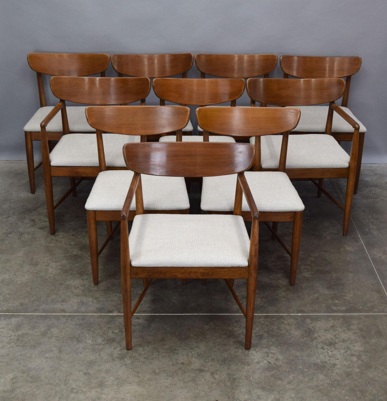 American Of Martinsville American Of Martinsville U0027Daniau0027 Dining Chairs    Set Of 10 For