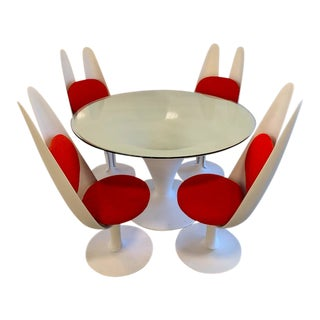 1960s Space Age Sculptured House Antennae Dining Set - 5 Pieces For Sale