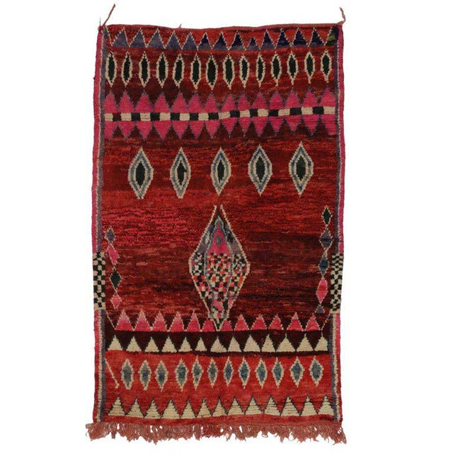 Late 20th Century 20th Century Moroccan Berber Rug - 5'3 X 7'8 For Sale - Image 5 of 5