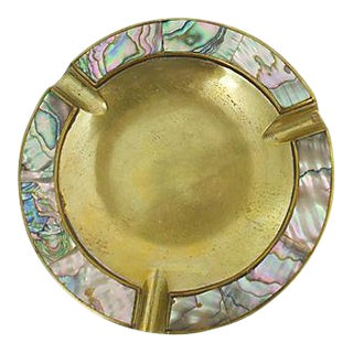 Inlaid Abalone Ashtray For Sale