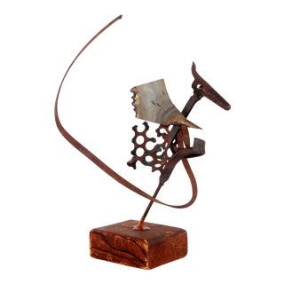 1950s Brutalist Iron & Steel Dragon Figural Sculpture For Sale
