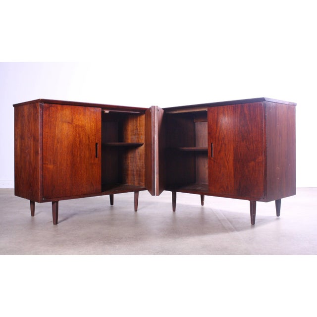 Mid-Century Modern Intense Matching Pair of Arne Vodder Cabinets For Sale - Image 3 of 12