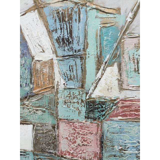 Lee Reynolds 1960s Vintage Lee Reynolds Geometric Abstract Painting For Sale - Image 4 of 7