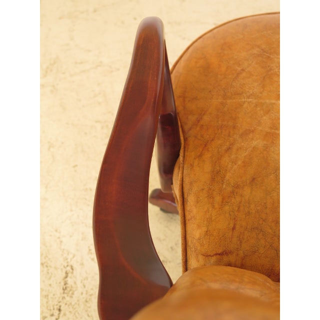 Animal Skin Century Tufted Leather Office / Desk Chair For Sale - Image 7 of 12
