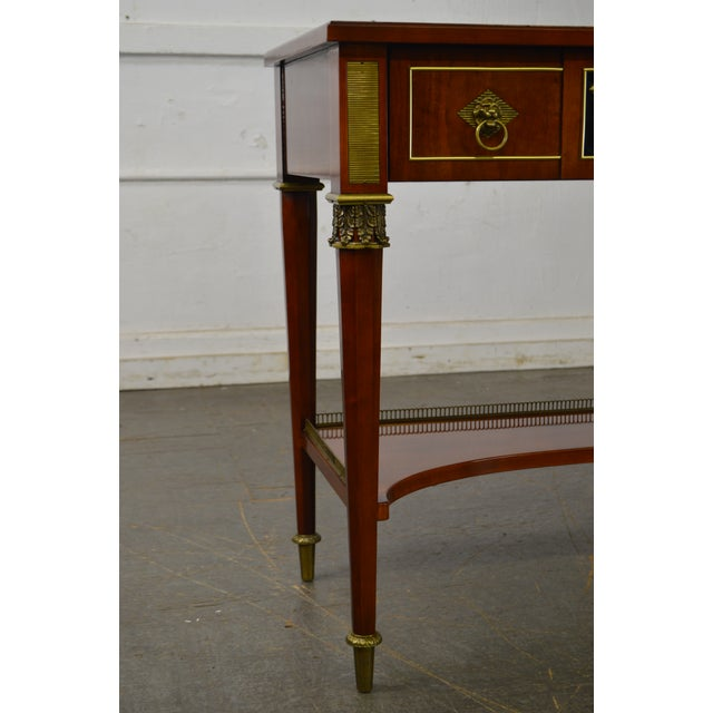 John Widdicomb John Widdicomb Neo Classical Style Bronze Mount 1 Drawer Console Table For Sale - Image 4 of 13