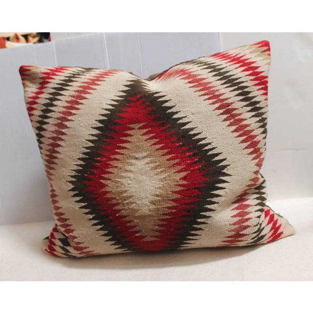 Monumental Navajo Indian Eye Dazzler Weaving Pillow - Image 2 of 3