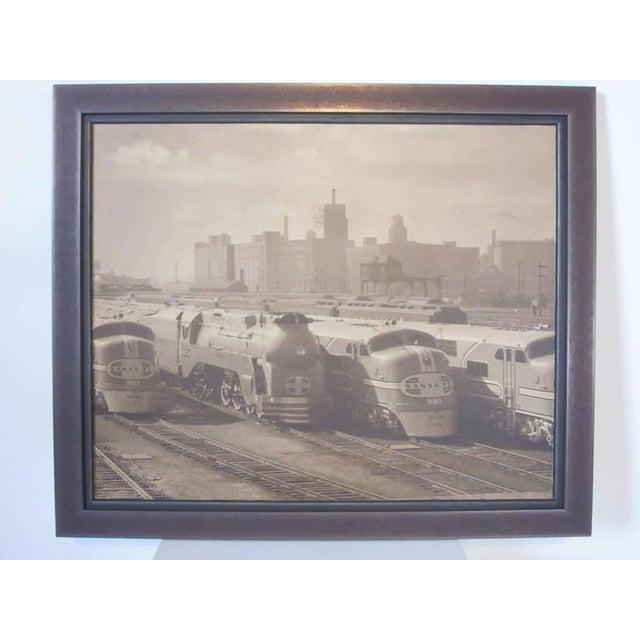 1940s Streamline Chicago Train Railroad Photo For Sale - Image 5 of 5