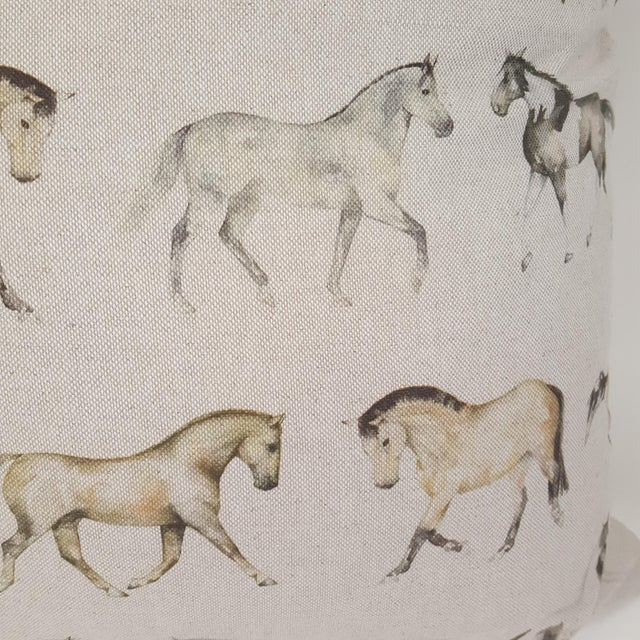 Horses Accent Pillow For Sale - Image 4 of 13