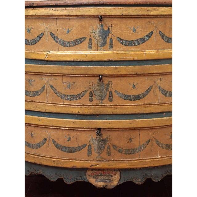 Italian Rare, 18th Century Italian Demilune Commode For Sale - Image 3 of 10