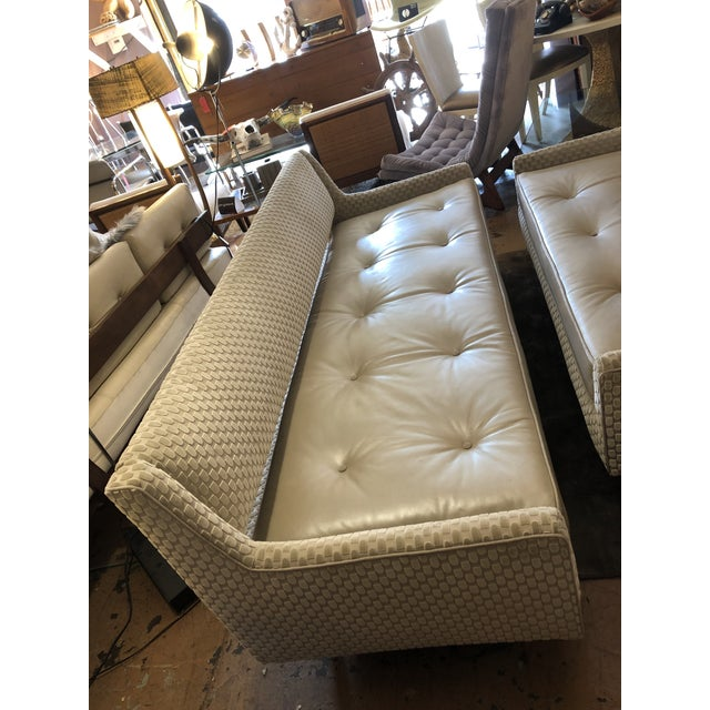 Mid Century Modern Edward Wormley by Dunbar Open Back Sofas Newly Upholstered - Set of 2 For Sale In Chicago - Image 6 of 9