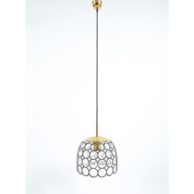 1960s Pair of Large Midcentury Iron and Glass Pendant Lamps by Limburg For Sale - Image 5 of 6