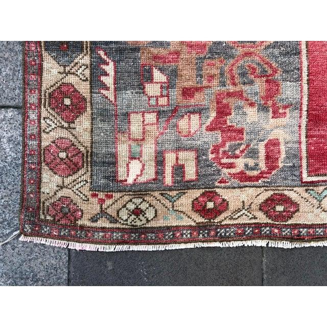 Tribal Turkish Carpet For Sale - Image 9 of 11