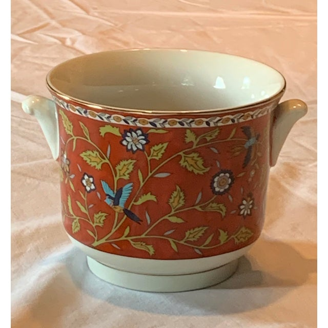 Japanese Small Hand Painted Ceramic Cachepot For Sale In Austin - Image 6 of 6