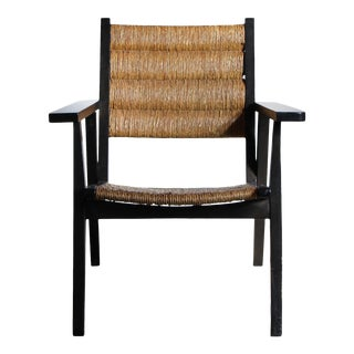 Mexican Seagrass Lounge Chair in the Style of Clara Porset For Sale