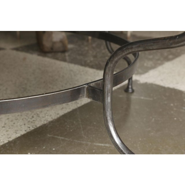Belgian Bluestone Table on Steel Base For Sale - Image 4 of 7