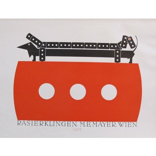 1923 German Design Poster, Dachshund For Sale