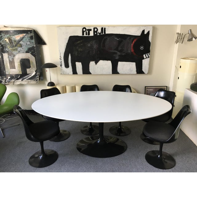 Knoll Tulip Dining Table And Chairs Set Of Chairish - Knoll tulip table and chairs