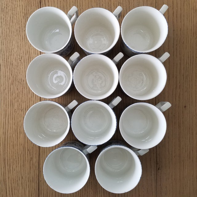 Staffordshire Kensington Stafforshire Ironstone Balmoral 1801 Cups & Saucers, 22 Piece For Sale - Image 4 of 10