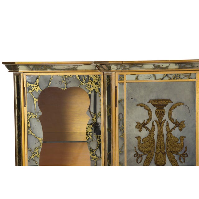 French Art Deco Smoked Mirror Bar Server Console Sideboard, C. 1940s For Sale - Image 12 of 13