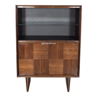 Art Deco Walnut Bar or Cabinet Designed by Gilbert Rohde for Herman Miller For Sale