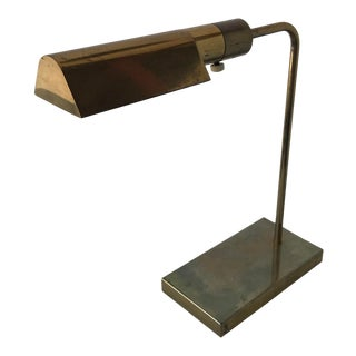 Vintage 1950s Casella Brass Table Lamp For Sale