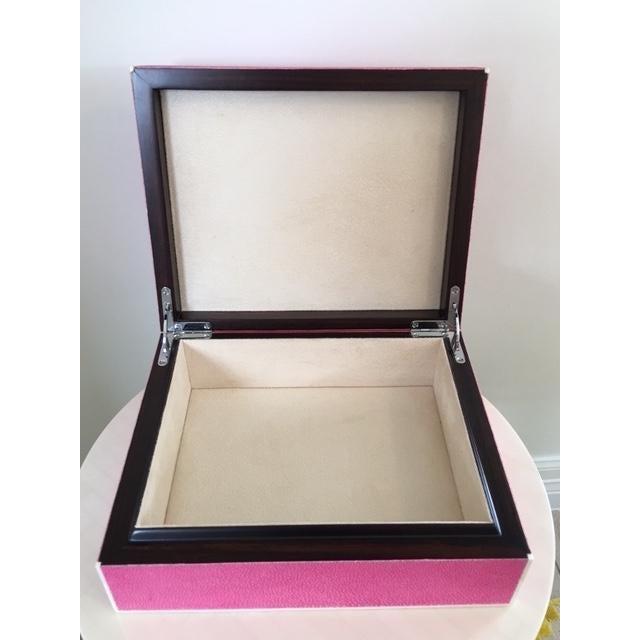 Hot Pink Shagreen Box - Image 4 of 5