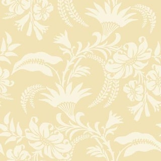 Cole & Son Cranley Wallpaper Roll - Yellow For Sale