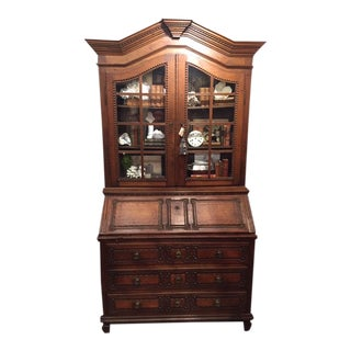Louis XVI Style Secretary Bookcase For Sale