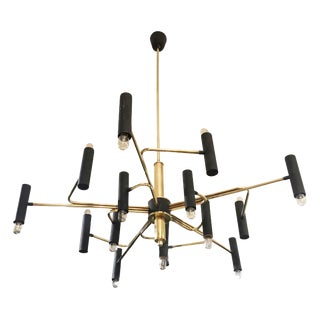 Italian Mid-Century Chandelier Attributed by Stilnovo For Sale