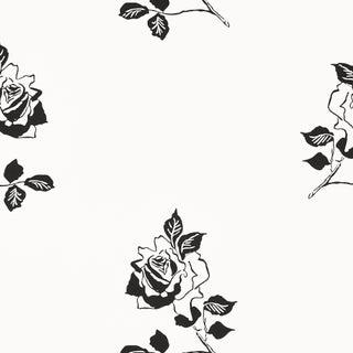 Sample - Schumacher Adele Wallpaper in Blackwork Preview