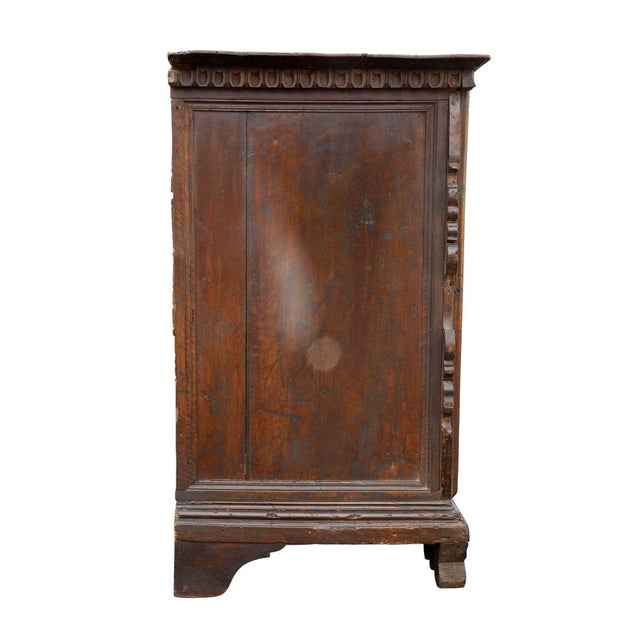 Brown Impressive Italian Baroque Walnut and Burl Walnut Commode For Sale - Image 8 of 12