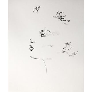 """""""Minimal Profile"""" Contemporary Charcoal Drawing by Sarah Myers For Sale"""