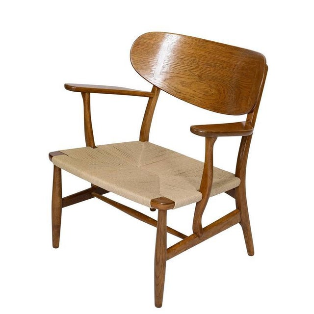 Hans Wegner CH-22 Lounge Chair For Sale - Image 4 of 10