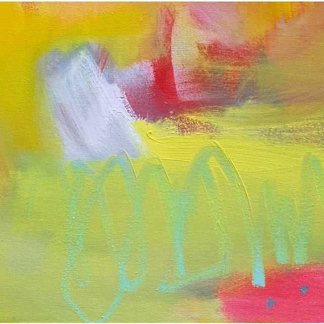 "2010s ""Up and Away"" by Trixie Pitts Large Abstract Diptych Oil Painting For Sale - Image 5 of 13"