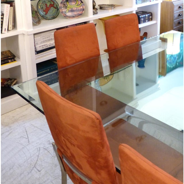 Early 21st Century Sally Sirkin Lewis for J. Robert Scott Stainless Steel and Glass Dining Table For Sale - Image 5 of 12
