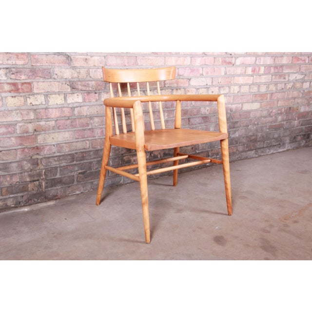Paul McCobb Planner Group Solid Maple Spindle Back Armchairs - a Pair For Sale - Image 10 of 13