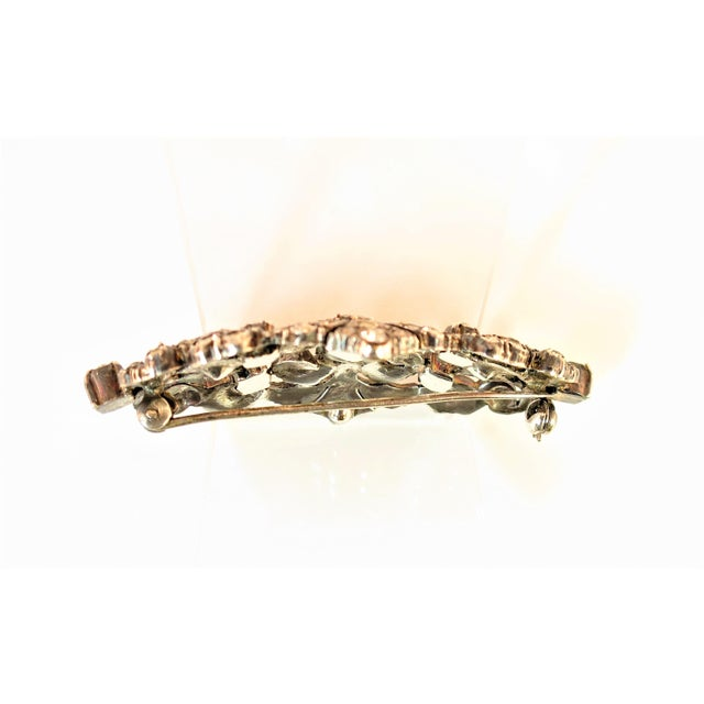 Edwardian Hand-Wrought Sterling & French Paste Brooch1905 For Sale - Image 9 of 11