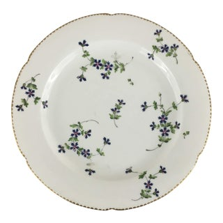 Late 18th Century Antique Fabrique De La Courtille Porcelain Plate For Sale
