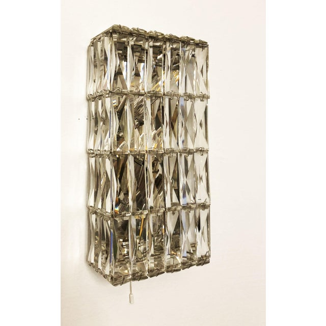 Pair of Austrian Crystal Sconces by Bakalowits and Sohne For Sale - Image 11 of 11